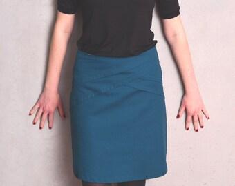 skirt - turquoise - flowers