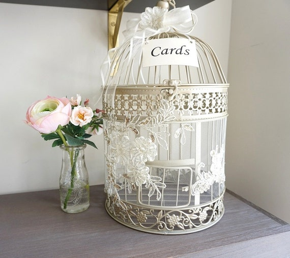 Metal Decorative Wedding Gift Card Holder Box : ... Box, Card Box, Wedding Gift Box, Round Birdcage, Wedding Decor on Etsy