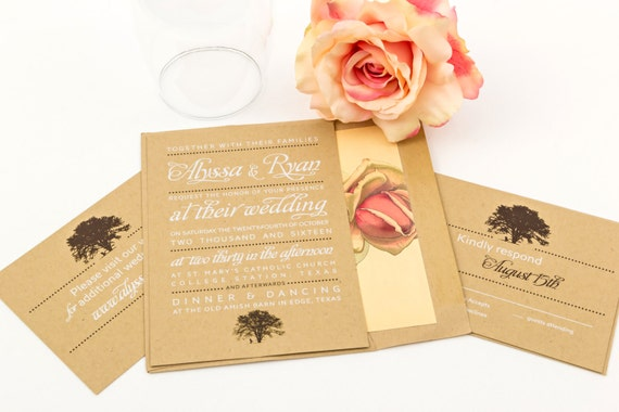 Rustic Wedding Invitation Suite - The Black Cherry Suite, Purchase this deposit to get started, Country Weddings, Rustic Wedding