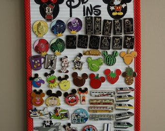 Pin Display With Mickey & Minnie - Trading Pin Display - Pin Holder