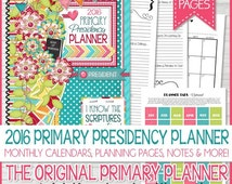 2016 PRIMARY Presidency PLANNER Organizer, Calendar, I Know the Scriptures are True LDS - Printable Instant Download