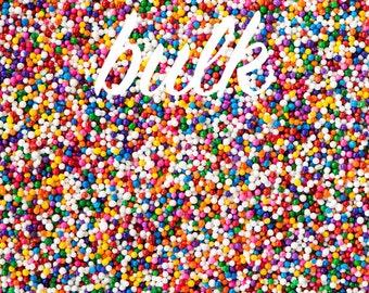 Bulk 2lbs (910g/2 cups) Rainbow Nonpareils Sprinkles, Gluten-Free, Vegan, Rainbow Sprinkles, Nonpareils, Bulk Sprinkles