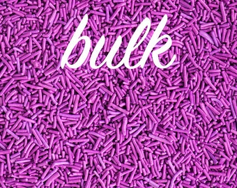 Bulk 2lbs (910g/4 cups) Purple Crunchy Sprinkles, Gluten-Free, Vegan, Jimmies, Sugar Strands, Violet Sprinkles, Canadian Sprinkles