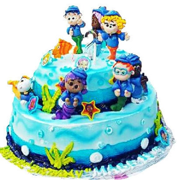 bubble guppies cake toppers guppies cake topper large 3d set by claycutiesbymelissa 2100