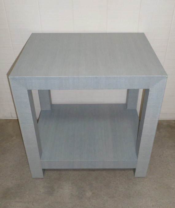 Custom Grasscloth Side Table