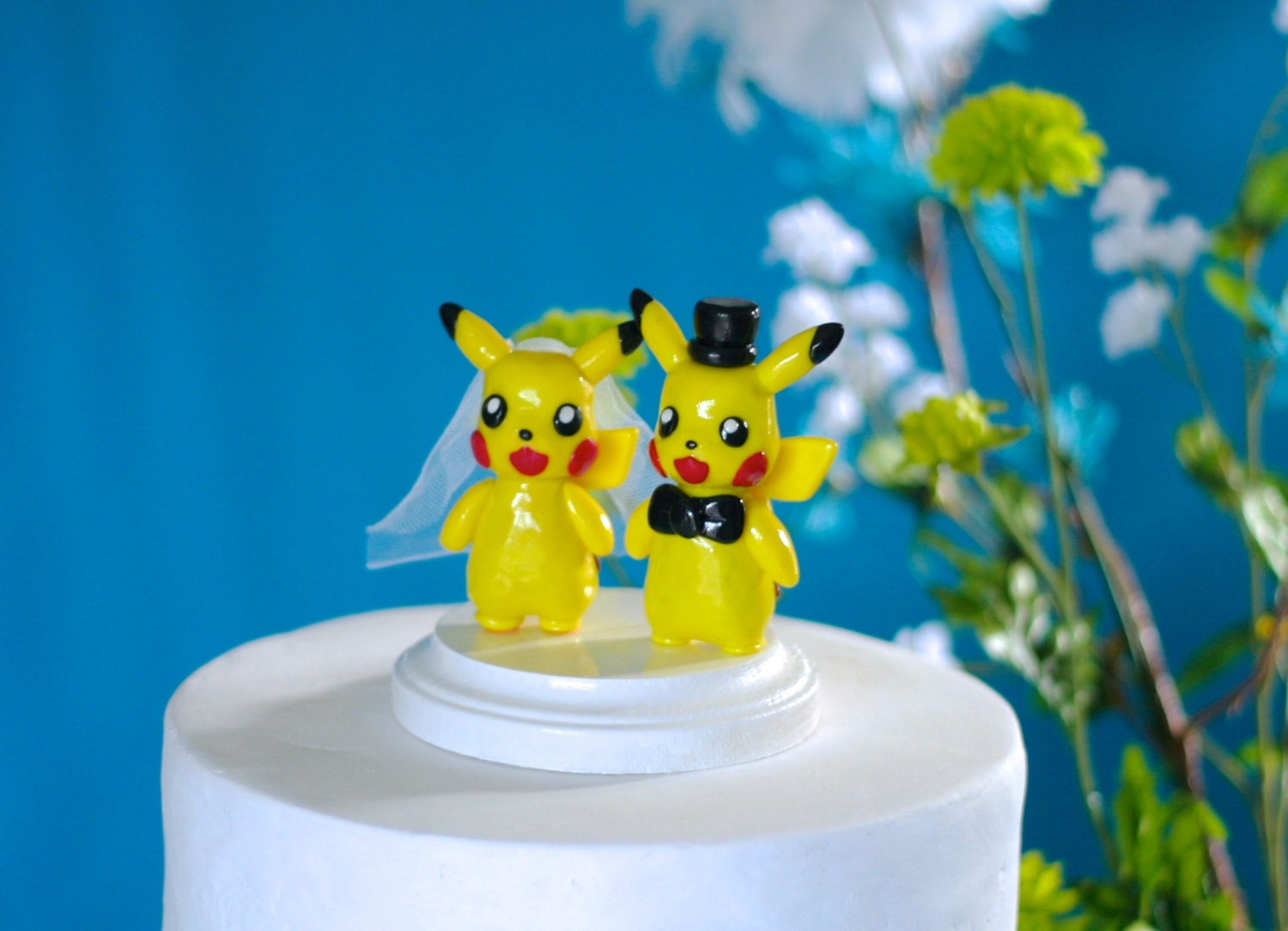 Pikachu Wedding Cake Toppers