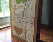 I love Redding CT 06896 - 1 blank handmade greeting card