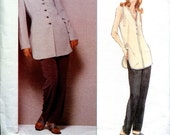 Vogue 1307 Anne Klein Wardrobe Jacket Shirt Top Pants American Designer B36 B38 B40 Uncut