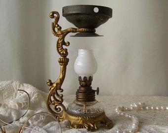 Antique Medicine Lamp Vapo Cresolene Vaporizer Oil Lamp Old Medicine Victorian Decor circa 1900s