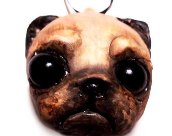 Pug Ornament - MADE TO ORDER- Dog Ornament - Canine - Pet - Animal