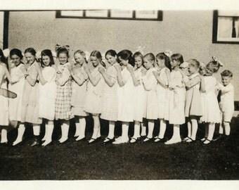 "Vintage Photo ""The Little Caboose"" Row Snapshot Photo Old Antique Photo Black & White Photograph Found Photo Paper Ephemera Vernacular - 123"