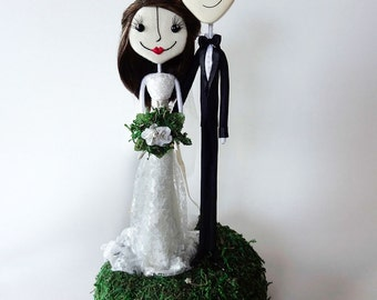 Handcrafted Super Sweet and Charming Custom Keepsake Wedding Cake Toppers