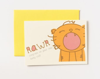 Congratulations Baby Cub Greeting Card