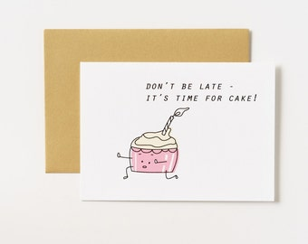 Runaway Cupcake Birthday Greeting Card