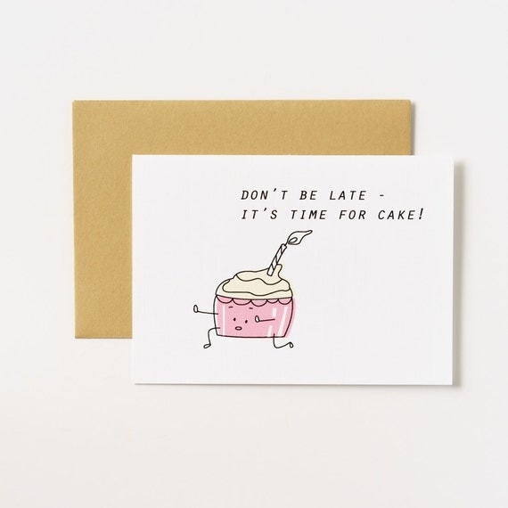 Runaway Cupcake Birthday Greeting Card