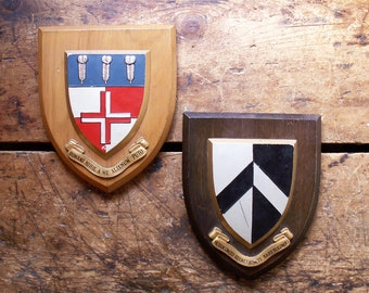 Vintage Heraldic Crests - Made in Great Britain - Great Guy Gift Wall Decor