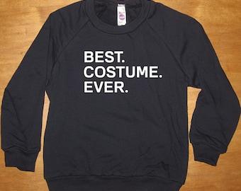 Halloween Costume Kids Shirt - Best. Costume. Ever.  - Long Sleeved Shirt Navy Blue - Fleece 2T, 4T, 6, 8, 10, 12  - Gift Friendly