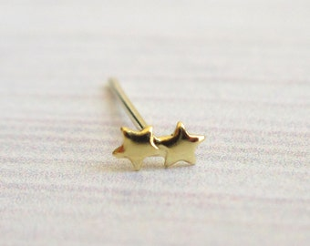 Gold Stars Nose Stud - Tiny Nose Stud - Nose Jewelry - piercing jewelry - cartilage earring - body jewellery - piercing stud