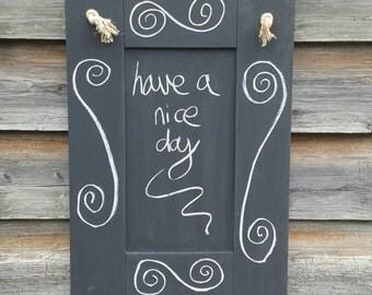 Blank Chalkboard - Kitchen Chalkboard - Rustic Home Decor - Hanging Chalkboard - Kitchen Wall Decor - Wedding Chalkboard - Plain Noteboard