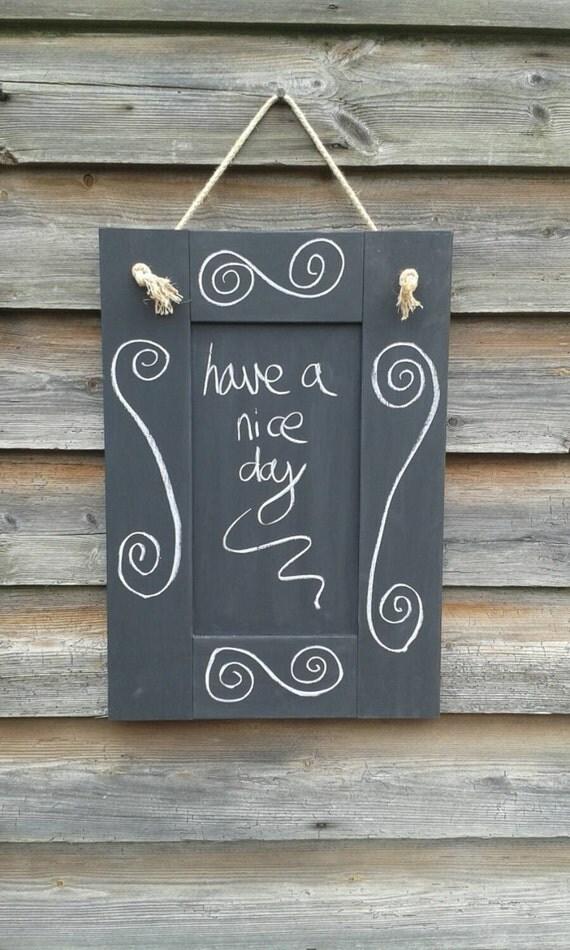 Blank Chalkboard Kitchen Chalkboard Rustic Home Decor