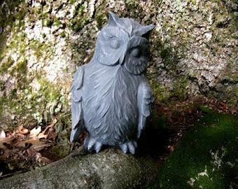 Owl Statue Concrete Owl Figure, Cast In Concrete, Cement Owls, Garden  Statues,