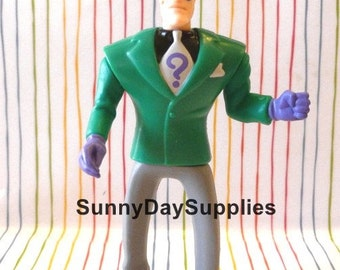 Vintage McDonald's Happy Meal Toys,  The RIDDLER,  From The Batman Animated Series,  1993,  Villain,  Batman Toys, Riddler