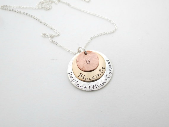 Personalized Mothers Necklace - Family Names - Grandma Necklace - Kids Names - Personalized Necklace - Custom Jewelry - Grandkids