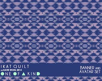 IKAT Quilt - banner & shop name set