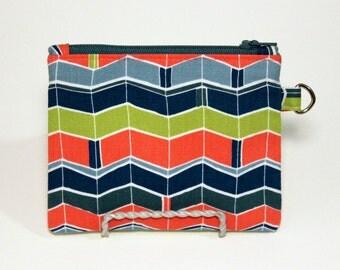 Summer Chevron Zigzag Small Zipper Pouch