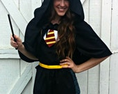 Teen/ Adult Harry Potter CAPE Cloak. Gryffindor Ravenclaw Slytherin Hufflepuff Costume Party. Women sizes 0-12 REVERSIBLE customizable