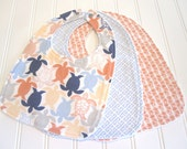 CLEARANCE/Baby Bib/Infant--18 mo./Set of Three Bibs/Calypso/Organic Fleece Back