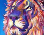 Lion, DawgArt, Lion Art, Zoo Art, Zoo Animal, Pet Portrait, Pet Portrait Artist, Art Prints, Cecil the Lion, Big Cats, #LionLivesMatter