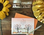 TODAY ONLY - So Glad For October - Individual Fall Note Card  - perfect for friends, family, gifts, encouragement, teachers