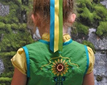 Anna's Sunflower Hair Ribbons