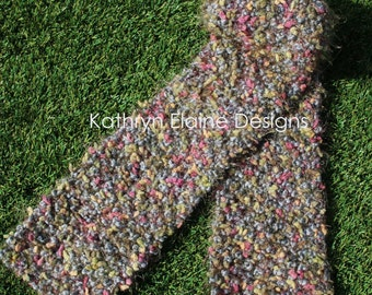Hand Knit Multi-color Women's Scarf