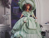 Paradise Publications Crochet Collector Costume Fashion Doll Pattern 1848 Plantation Party Frock Volume 20