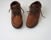 Eastland Brown Suede Lace-up Ankle Boots