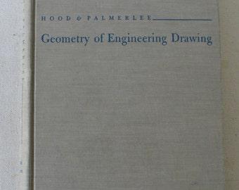 vintage textbook, Geometry of Engineering Drawing, 1958, from Diz Has Neat Stuff
