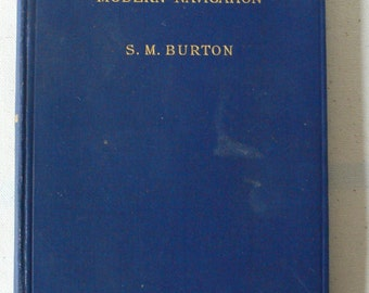 vintage book, A Manual of Modern Navigation, 1941, free shipping, from Diz Has Neat Stuff