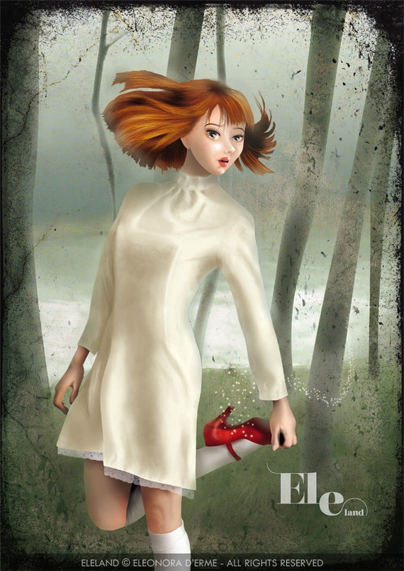 """Scarpette Rosse"""" (The Red Shoes) - PRINT - Open Edition - 17x24 cm unframed"""