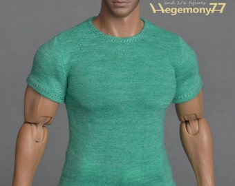 1/6th scale green T-shirt for: Hot Toys TTM 20 size XXL male figures and dolls