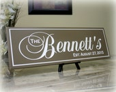 Wedding Last Name Sign Wedding Gift Sign Established Family Name Sign Wood Personalized Carved  Sign Engraved Custom Family Name Sign