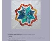 "Paper-Pieced Quilt Blocks Pattern - ""Glowing Star"""