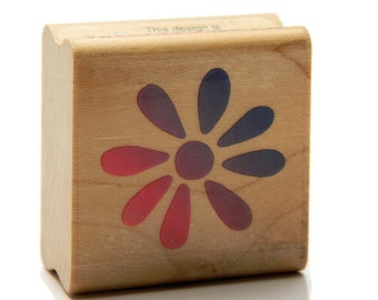 Flower Stamps - Simple Minimal Stamp - Clay Stamps - Ceramics and Pottery - Rubber Stamping - Decorative Stamps - Mixed Media