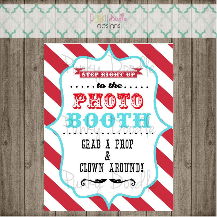 Carnival Party Sign Circus Party Sign Circus Photo Booth