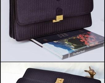 Authentic Vintage Classic Stripe Fendi Bag briefcase Convertible Strap is removable