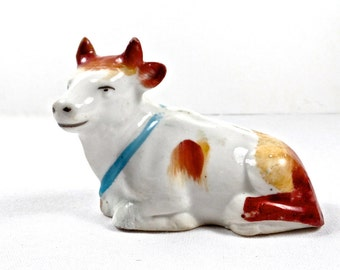 19thC Staffordshire Miniature Cow