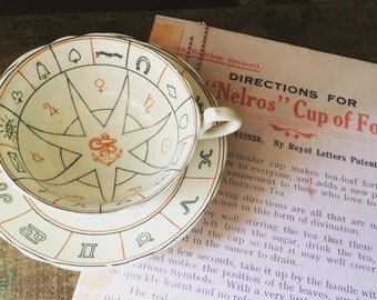 """RARE- Authentic Aynsley 1930's """"The Nelros Cup of Fortune"""", Reading Tea Leaves, Fortune Telling Tea Cup"""