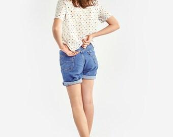 Shirt with Multicoloured Polka Dots