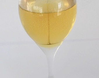 White Wine Gel Candle